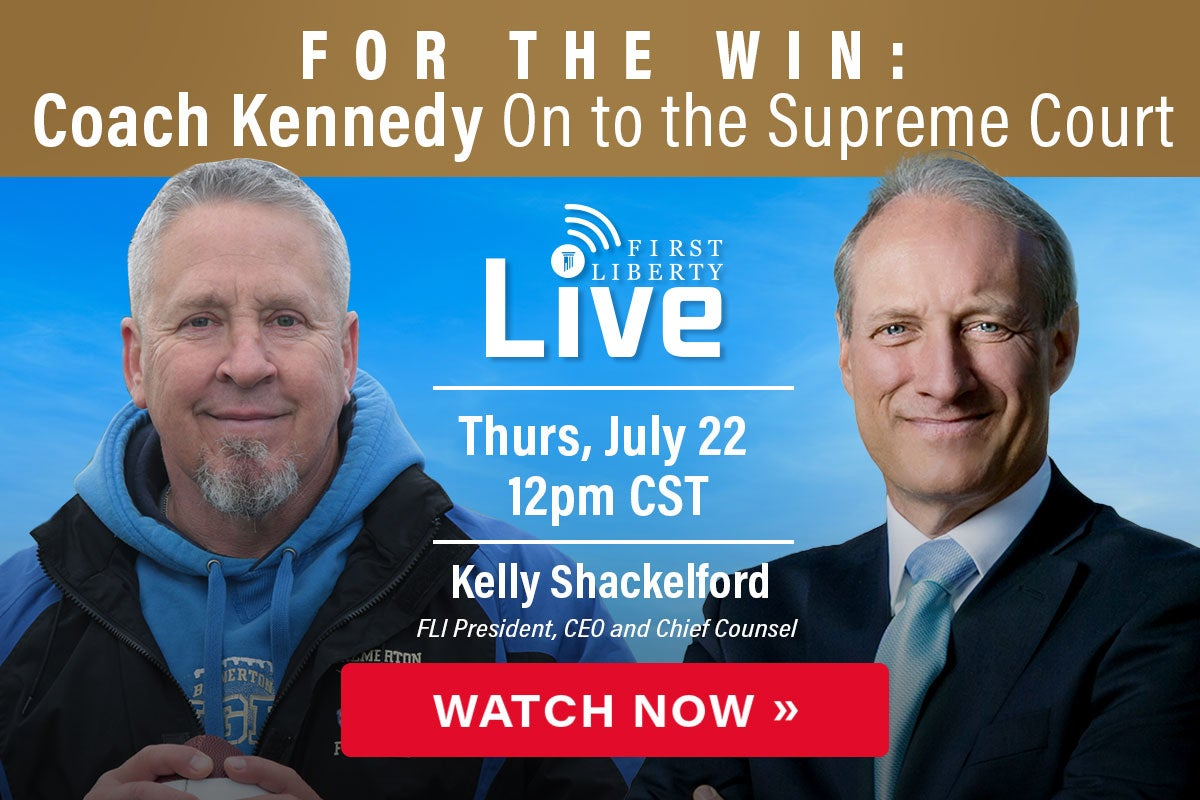 Kelly Kennedy | Live Now | First Liberty